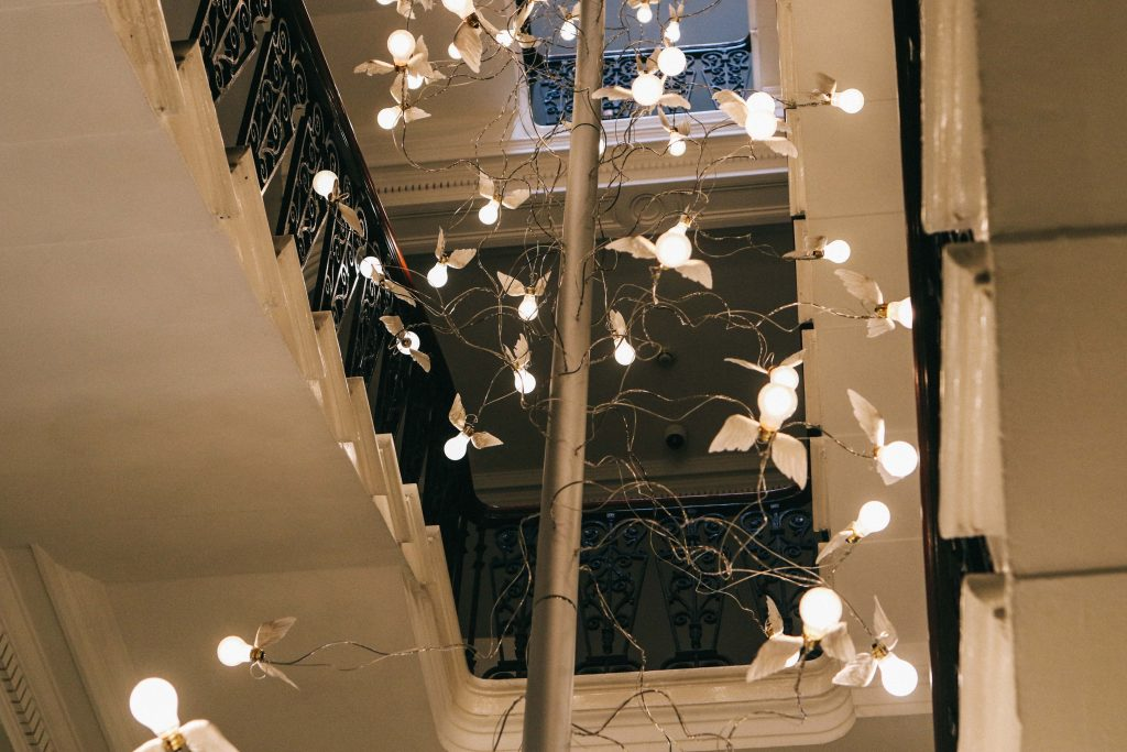 The lobby at the Ampersand Hotel, London