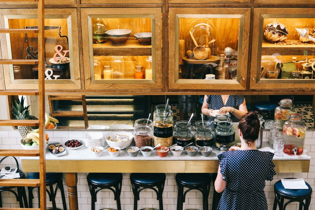 The breakfast table at The Ampersand Hotel, London
