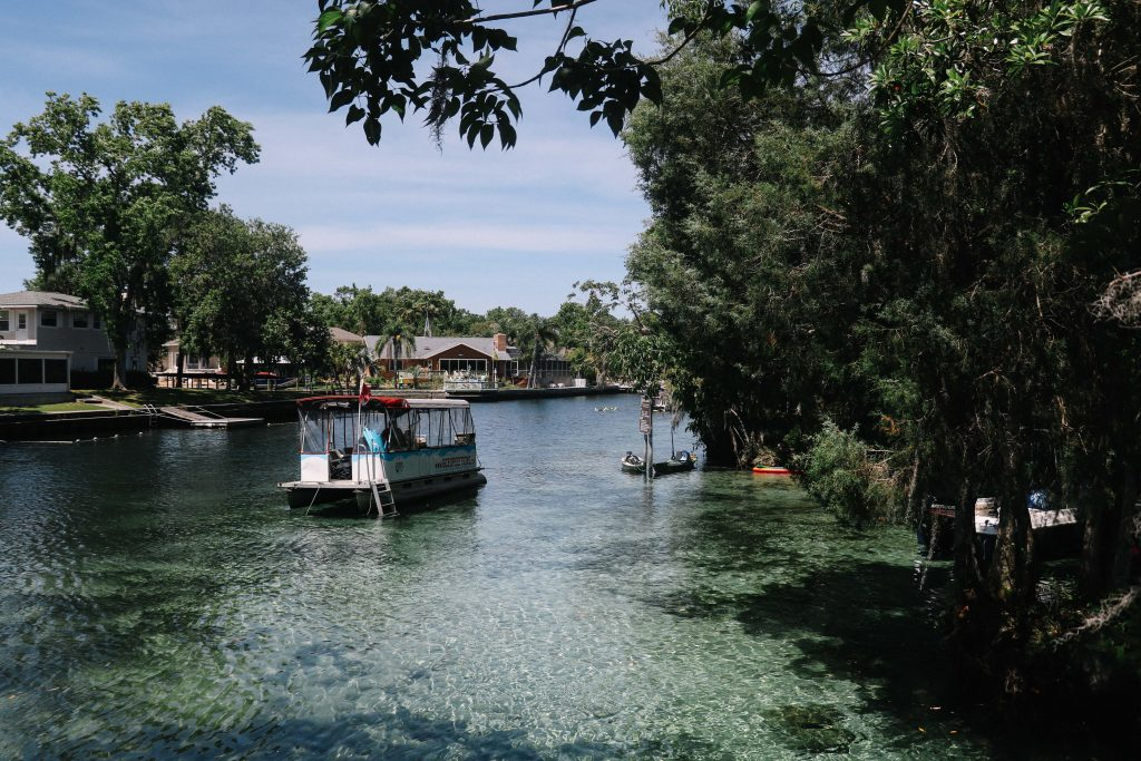 Three Sisters Springs, Crystal River, Florida, where you can swim with manatees.