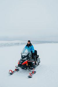 snow mobile arctic