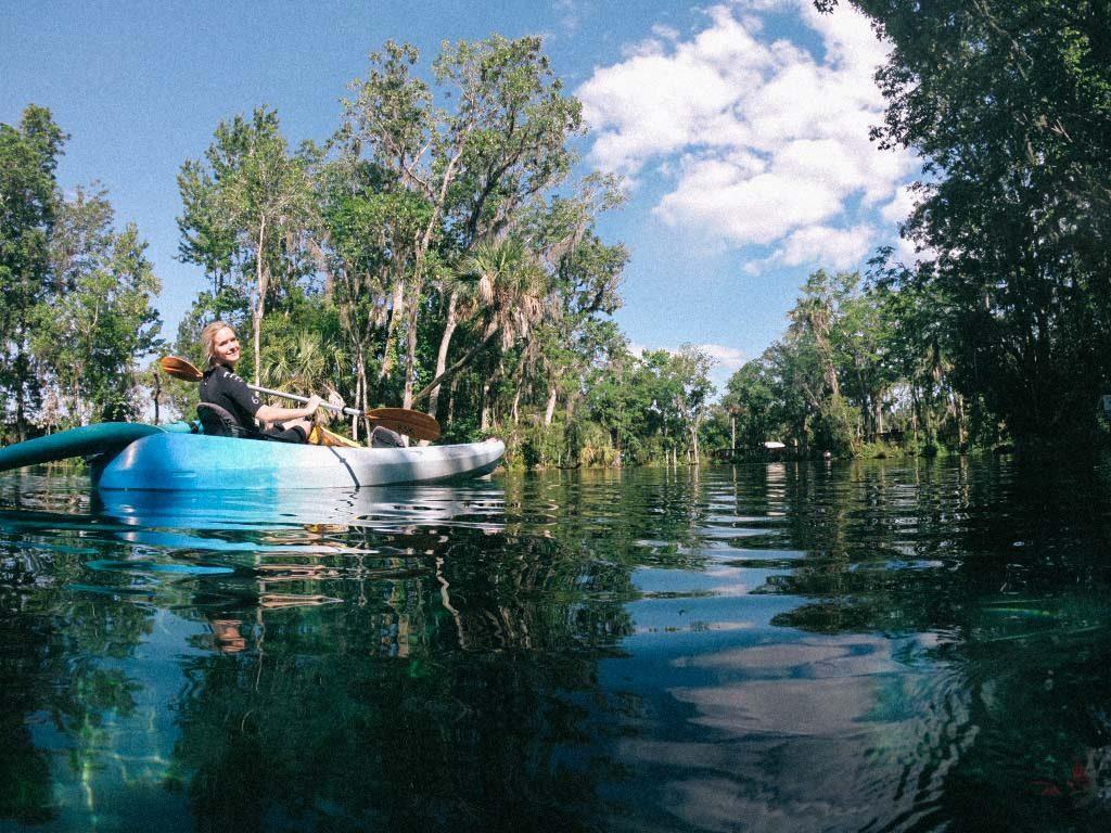 Kayaking on Crystal River, Florida
