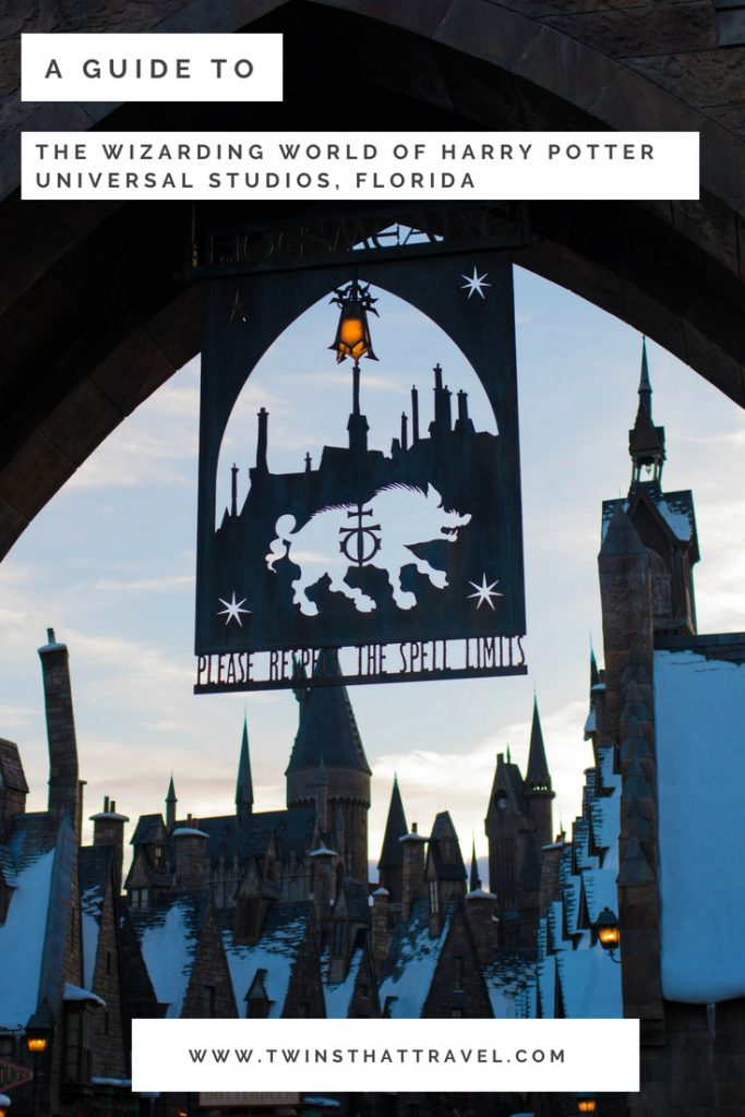 The gates to The Wizarding World of Harry Potter at Universal Studios, Florida