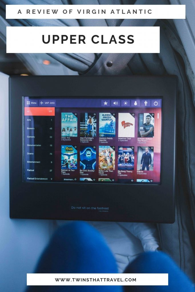 A review of Virgin Atlantic Upper Class
